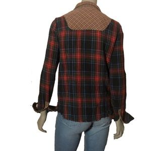 We The Free Tops - Free People Contrasting Plaid Flannel Shirt Med